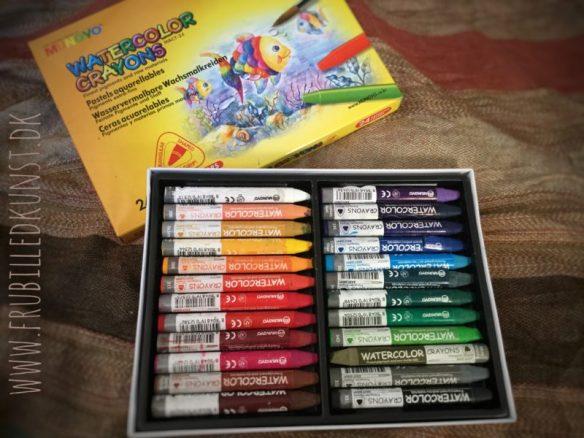 Test af mungyo watercolor crayons på FruBilledkunst