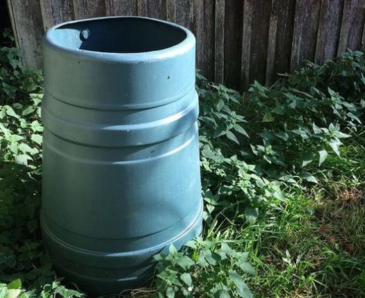 making compost in a plastic container