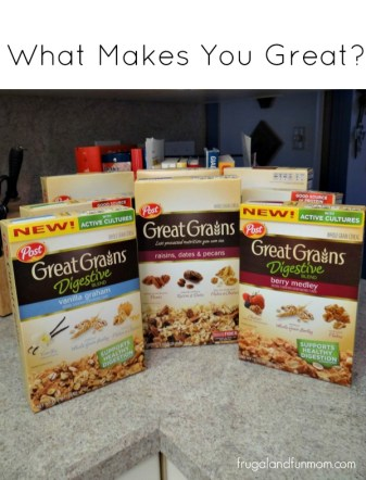 Question: What Makes You Great? Plus #Giveaway from Post Great Grains! » Frugal and Fun Mom/ Florida Mom Blog, Recipes, Crafts, Family Fun