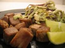 Fried pork and slaw