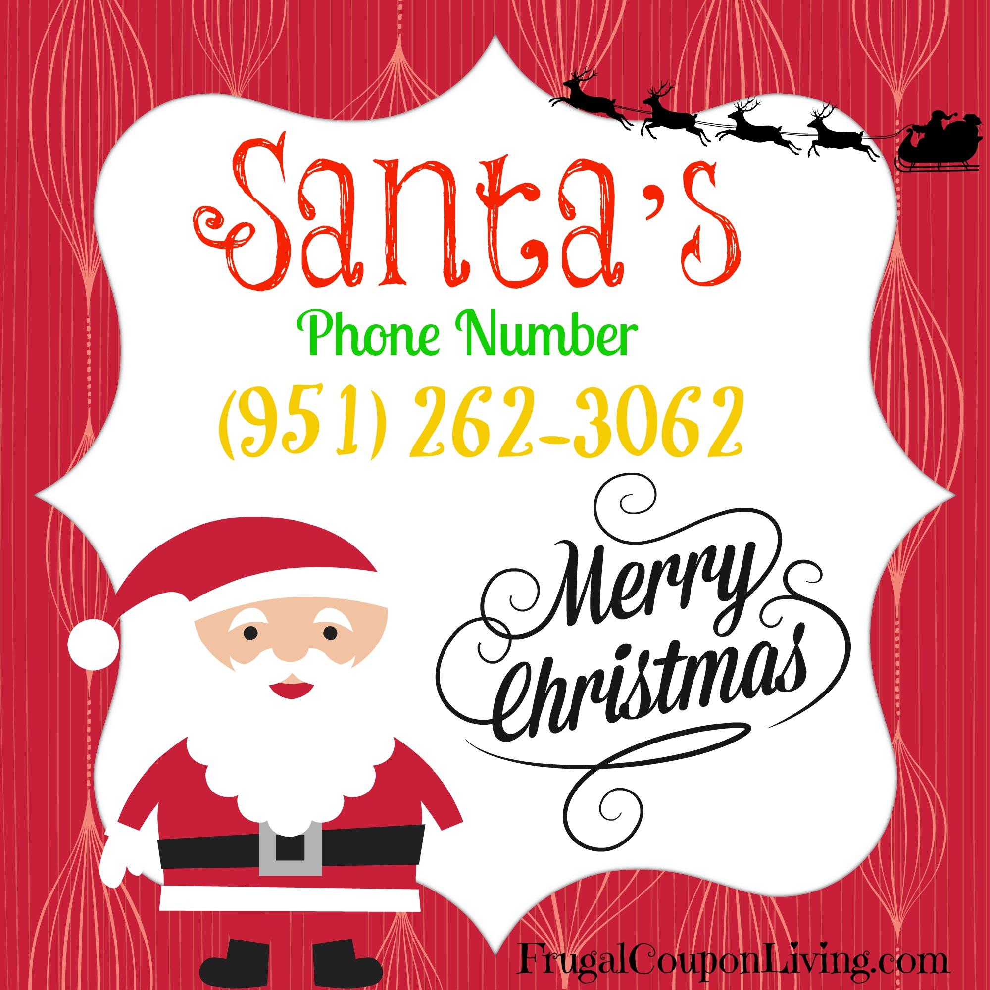 Santa S Phone Number Call Santa For Free