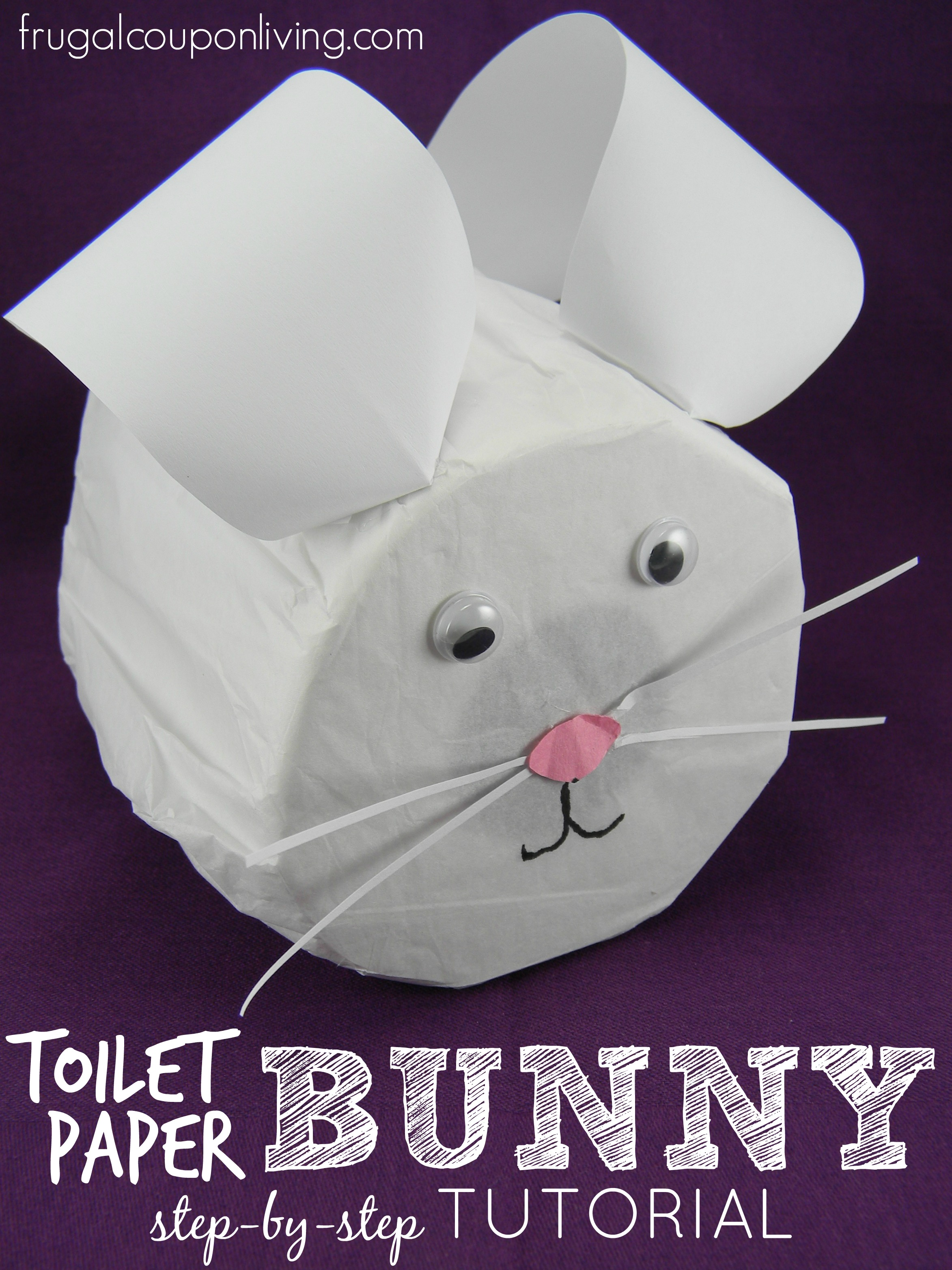 Step By Step Toilet Paper Bunny Tutorial Easter Craft