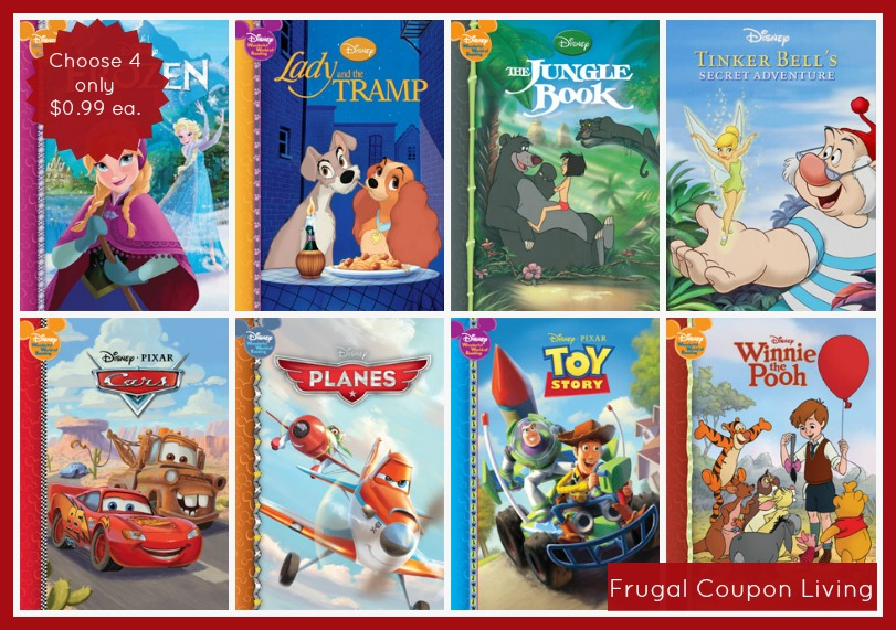 4 Hardcover Disney Storybooks Only 099 Each FREE