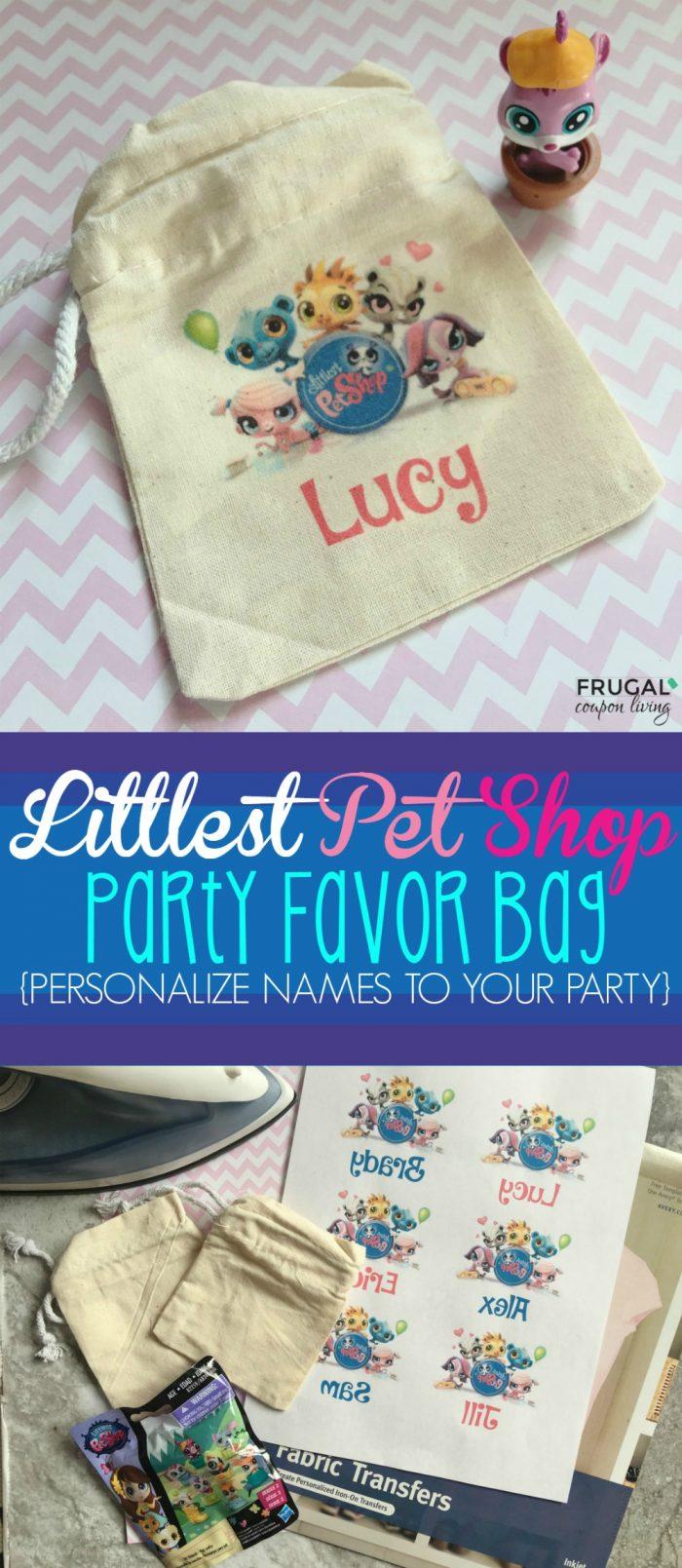 DIY Littlest Pet Shop Party Favor Printable Personalized Bag