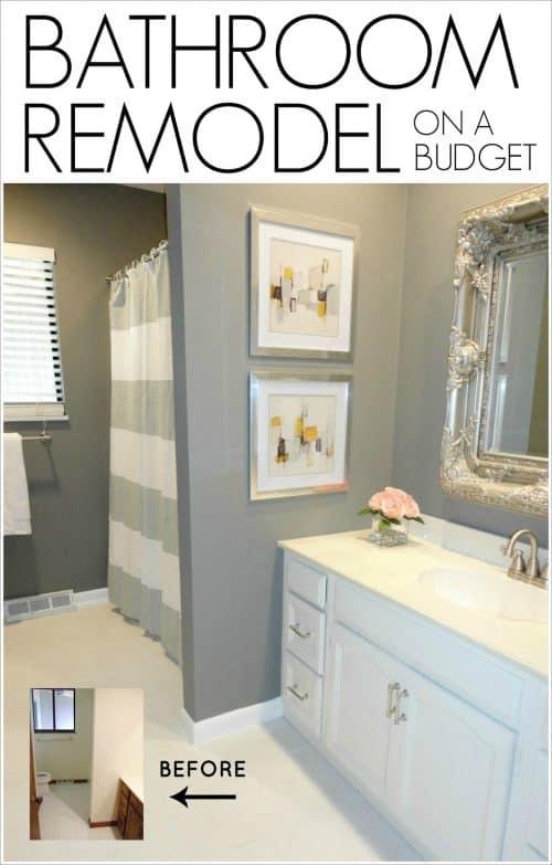 Remodeled Bathroom Ideas | Inspiring Makeovers on a Budget on Bathroom Ideas On A Budget  id=68600