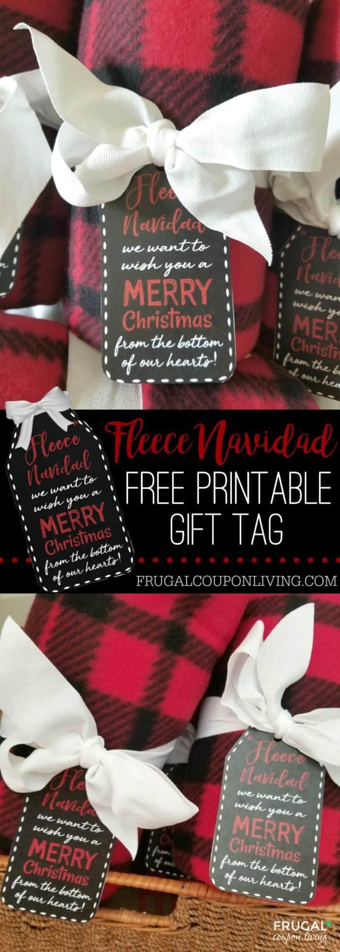 Free Printable Fleece Navidad Gift Tag Christmas Teacher