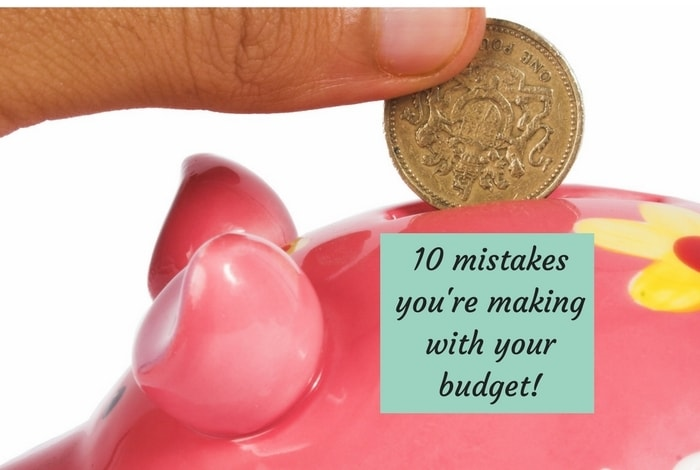 10 mistakes you could be making with your monthly budget….