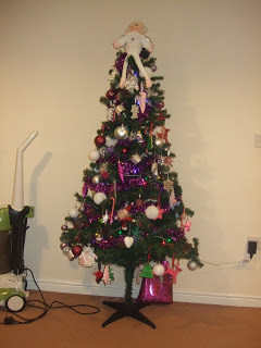 The tree is up….
