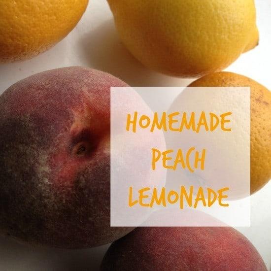 homemade peach lemonade
