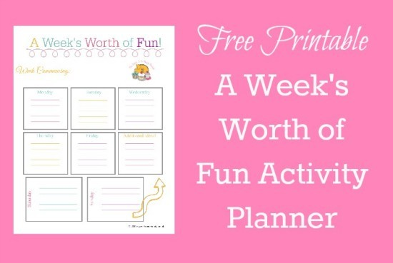 free printable a week s worth of fun activity planner the
