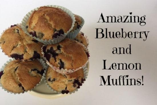 Amazing Blueberry and Lemon Muffins!