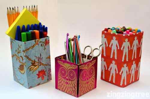Milk-Carton-Pen-Pot-Craft