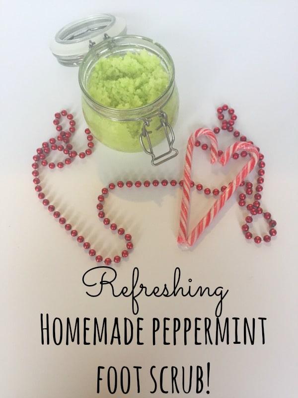 Refreshing Homemade peppermint foot scrub!