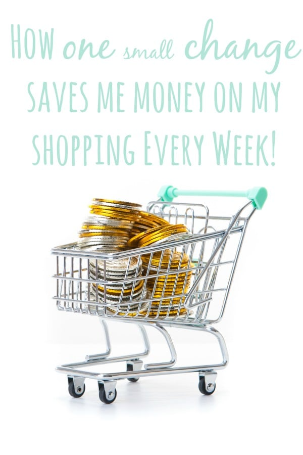 How one small change saves me money on my shopping every week!