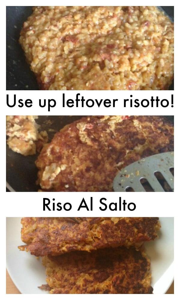 Use up leftover risotto - Riso Al Salto