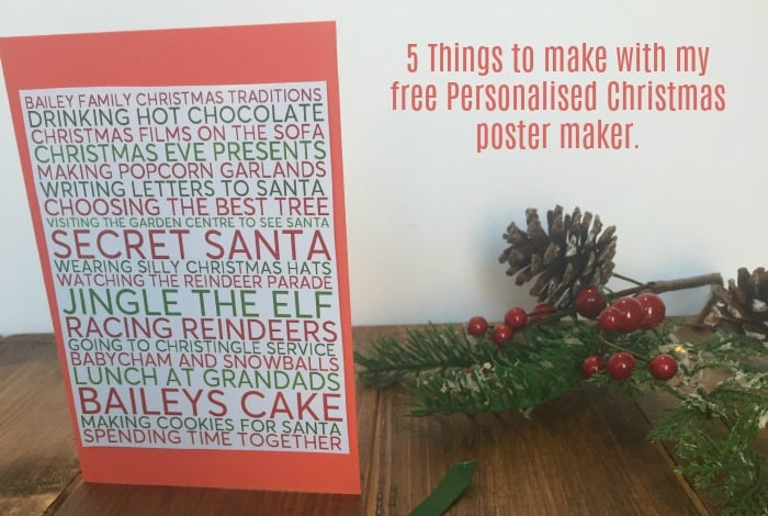 5 things to make with my free Christmas poster maker