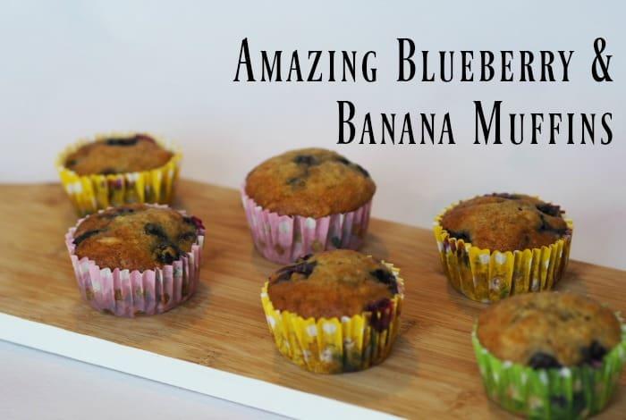 Homemade Blueberry and Banana Muffins….