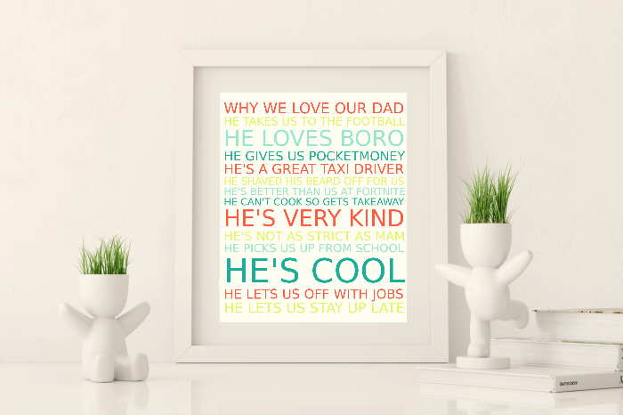 Amazing Frugal and Free Fathers Day Gift…. {Free Printable}