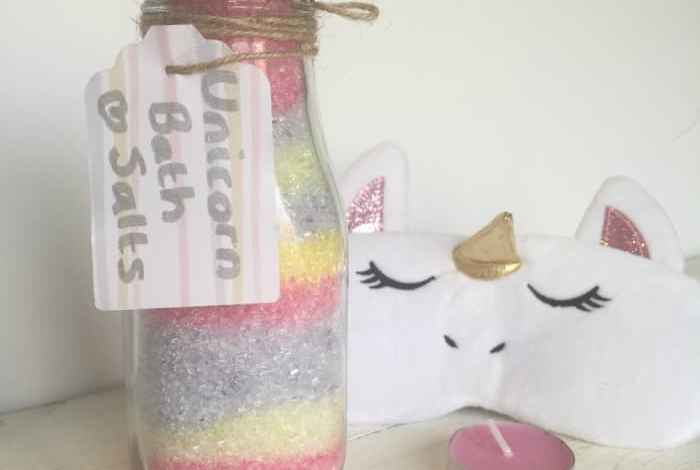 Amazing super cute homemade unicorn bath salts DIY