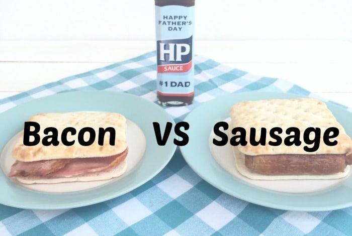 The great bacon vs sausage sandwich debate….