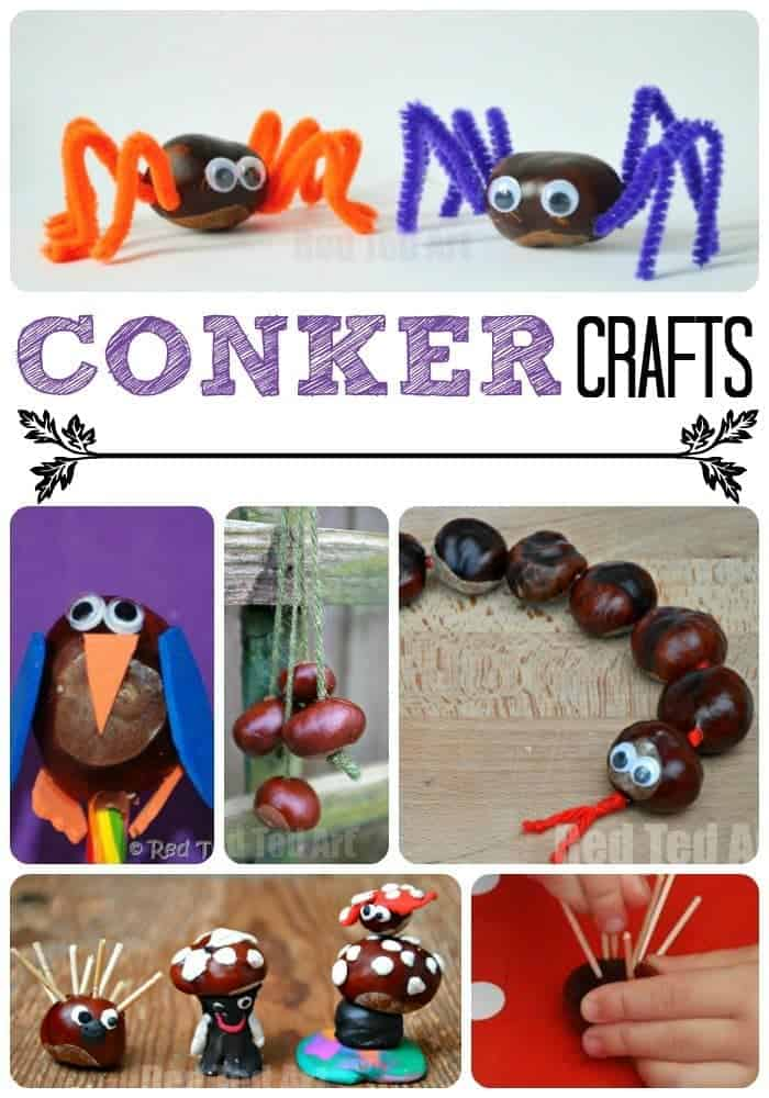 Amazing conker crafts from Red Ted Art