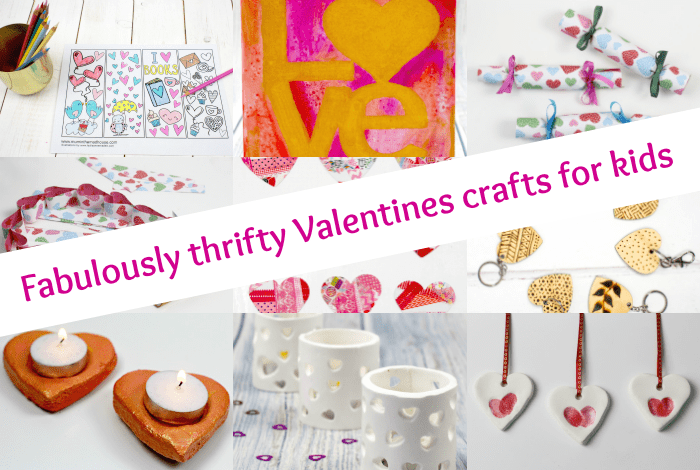 Fabulously thrifty Valentines crafts for kids....
