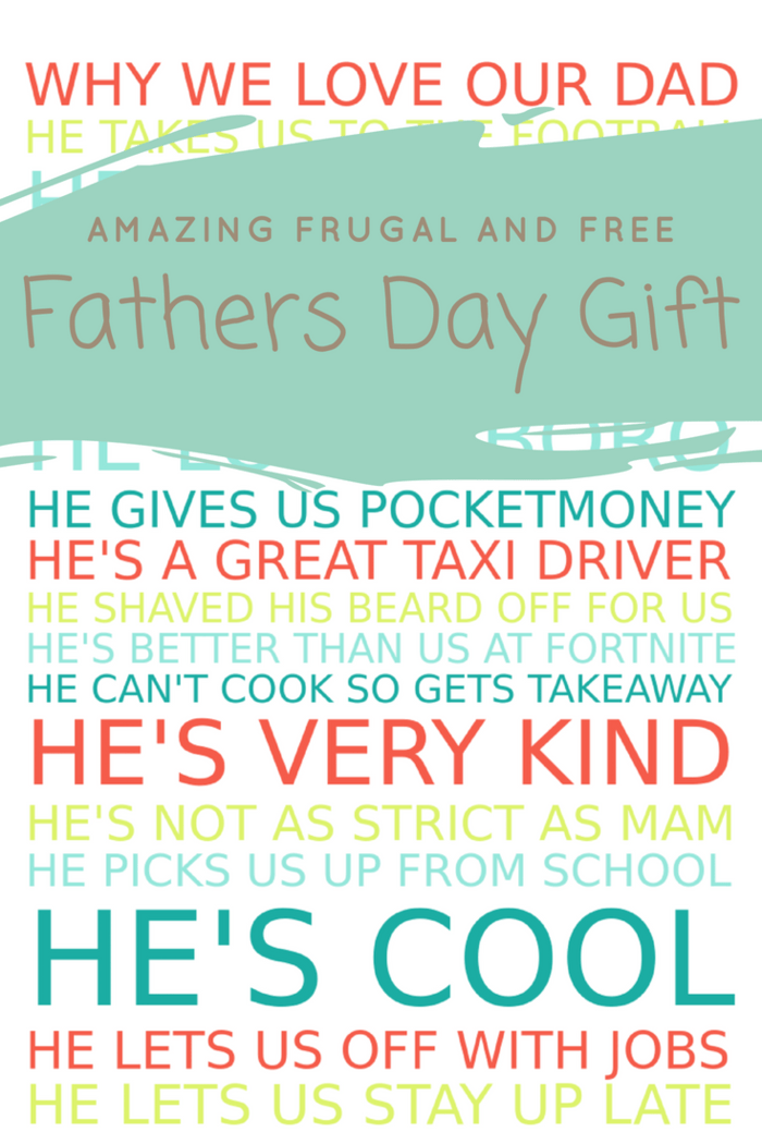 Amazing frugal and free fathers day gift. #freeprintable #fathersday