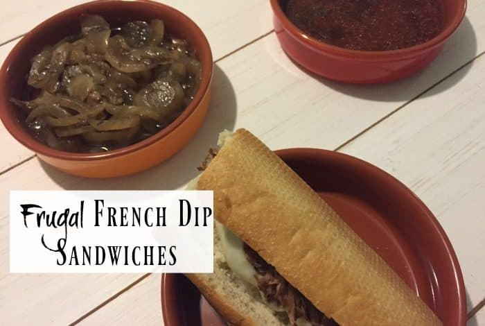 Frugal French Dip Sandwiches