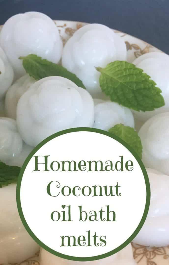Homemade Coconut oil bath melts....