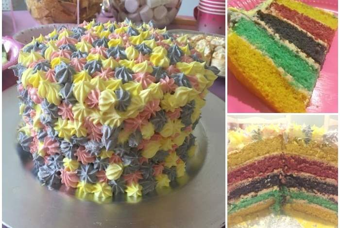 Homemade Rainbow Layer Birthday Cake The Diary Of A Frugal Family