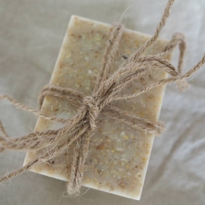 Homemade honey and oatmeal soap
