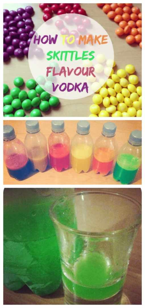 How to make Skittles Vodka (and 10 other ways to flavour vodka, brandy and gin)....