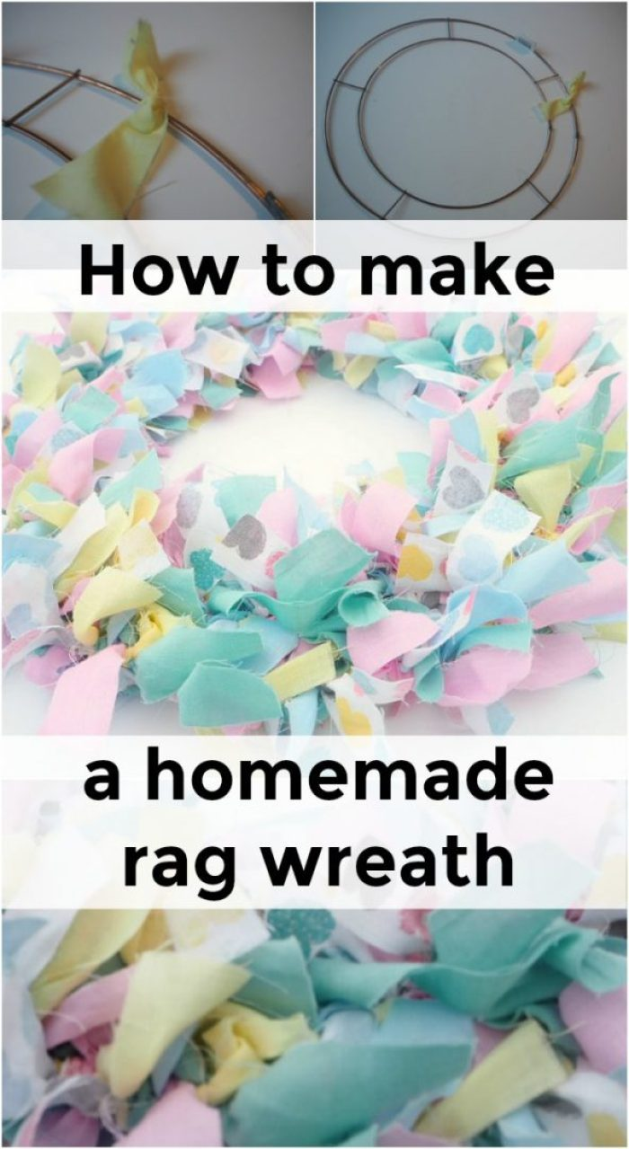 How to make your own homemade rag wreath.... | The Diary of a Frugal ...