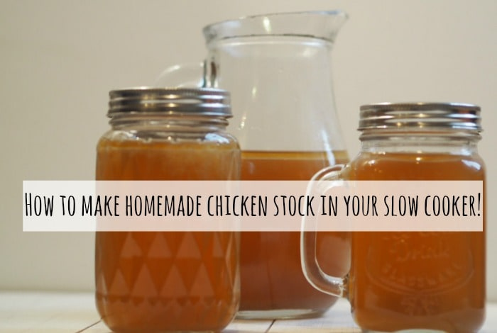 How to make homemade chicken stock in your slow cooker….