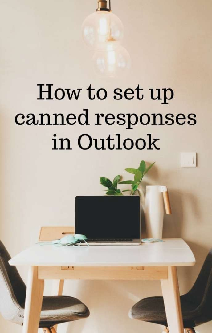 How to set up canned responses in Outlook