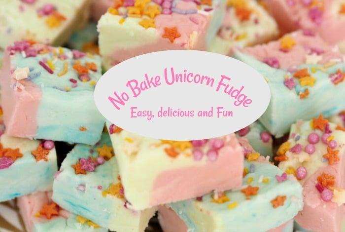 No Bake Unicorn Fudge….