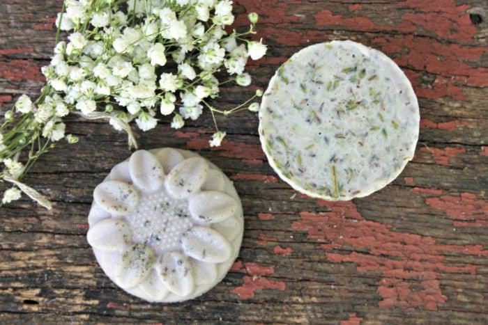 lavender and mint homemade shampoo bars