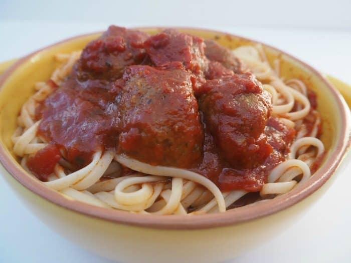 Marvellous meatball marinara