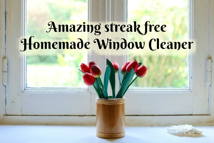 Streak Free Homemade Window Cleaner….