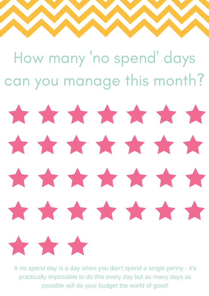 No spend day tracker.