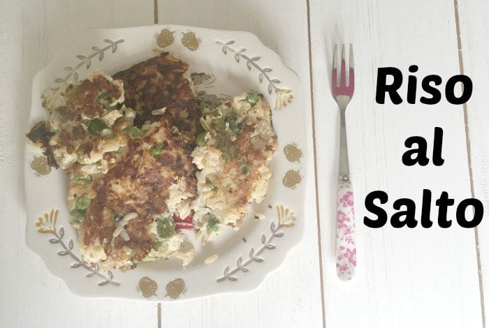 Riso Al Salto – A great way to use up leftover risotto….