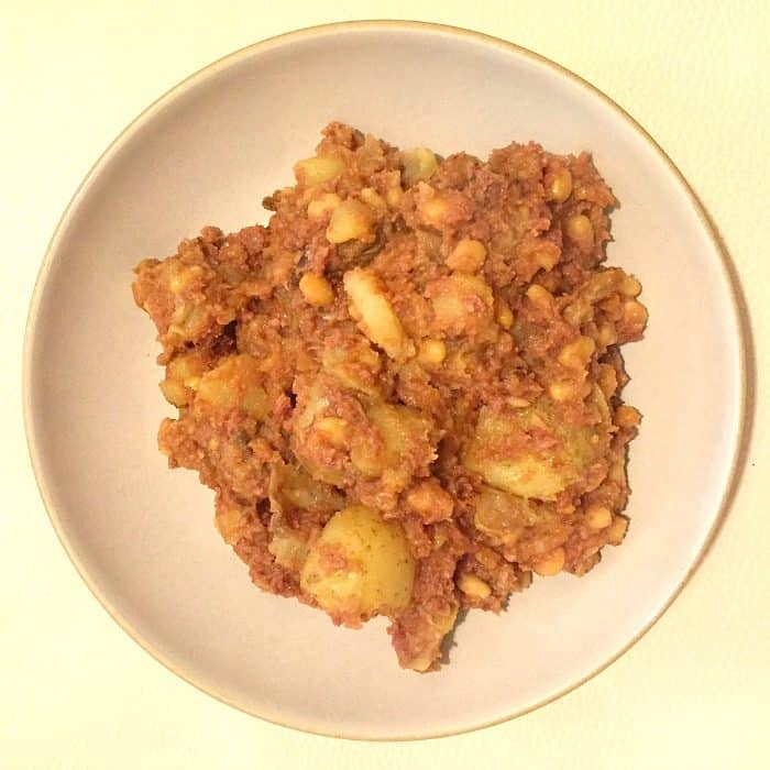 Simple but delicious corned beef hash....