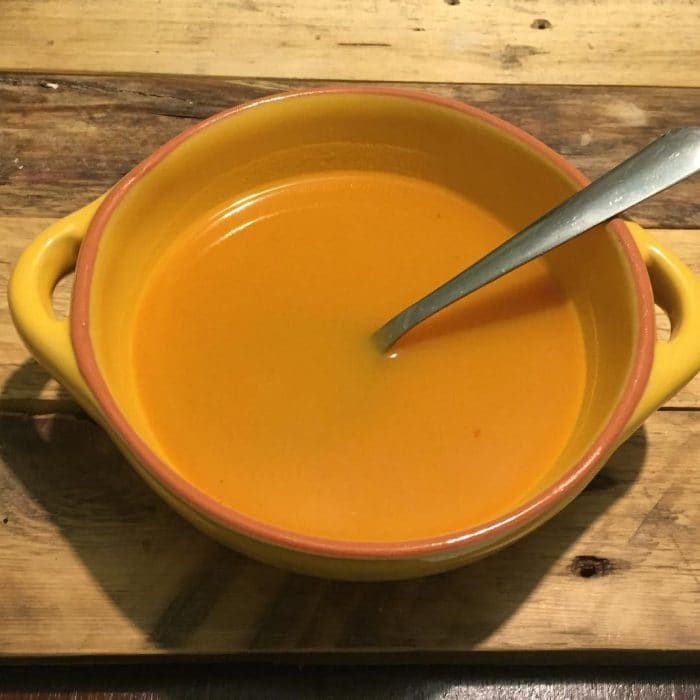 Spicy butternut squash and sweet potato soup