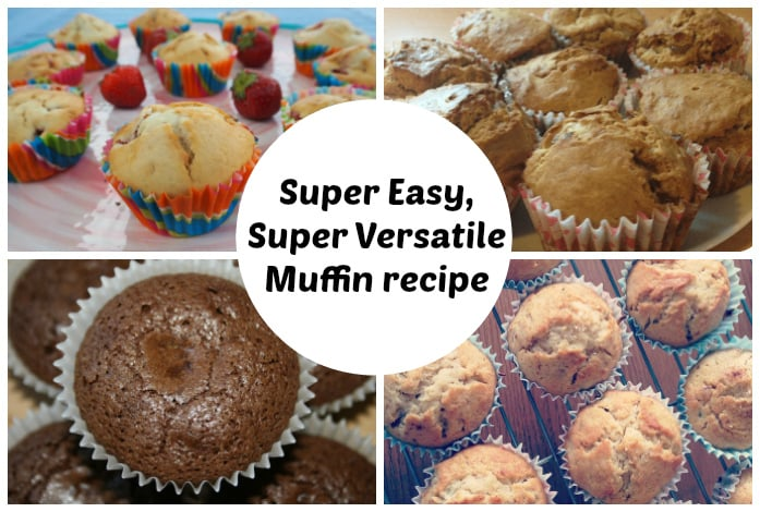 Easy muffin recipe – perfect for whatever flavour muffins you're making….