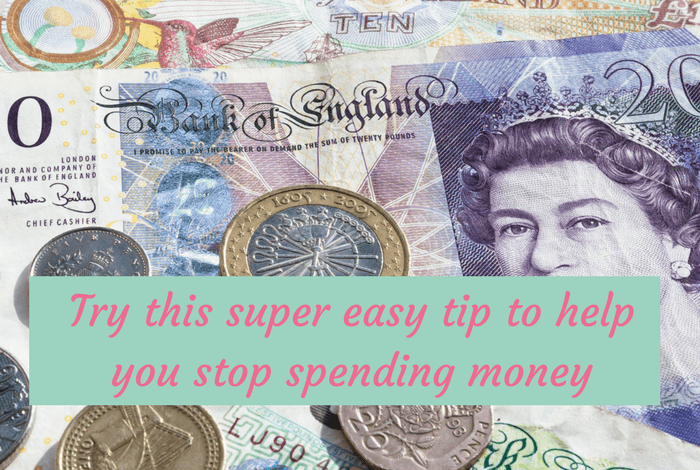 Try this super easy tip to help you stop spending money