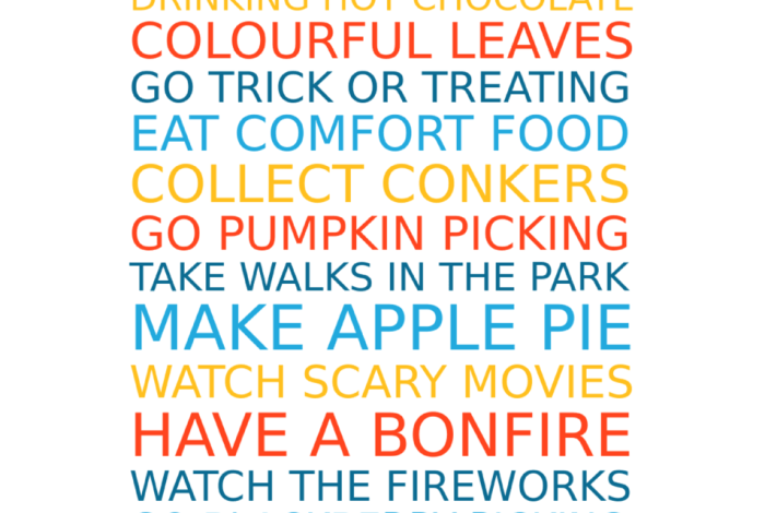 Make a Free Personalised Autumn Family Favourites Poster….