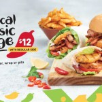 DEAL: Nando's – $12 Tropical Classic Burger, Wrap or Pita & Regular Side