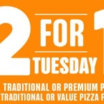 DEAL: Domino's 2 For 1 Tuesdays – Buy One Get One Free Pizzas Pickup/Delivered at Selected Stores (26 May 2020)