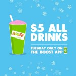 DEAL: Boost Juice App – $5 Drinks on Tuesday 23 October 2018