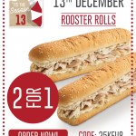 DEAL: Red Rooster – 2 For 1 Rooster Rolls Delivered (13 December – 25 Days of Christmas)